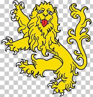 Lion Leopard Attitude Royal Banner Of Scotland Crest PNG