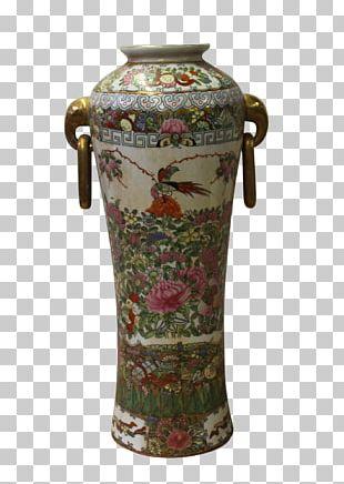 Vase Ceramic Porcelain Decorative Arts Famille Rose PNG