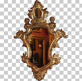Mirror Baroque Decorative Arts Frames Wood Carving PNG