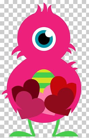 Valentines Day Heart Monster PNG