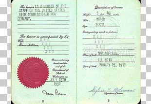 Germany United States Iran German Passport PNG