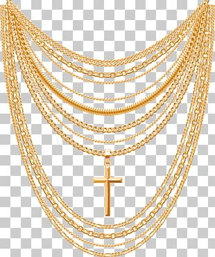 Gold Necklace Euclidean Chain PNG