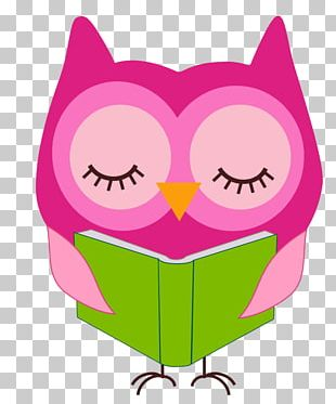 Reading Owl Notepad PNG