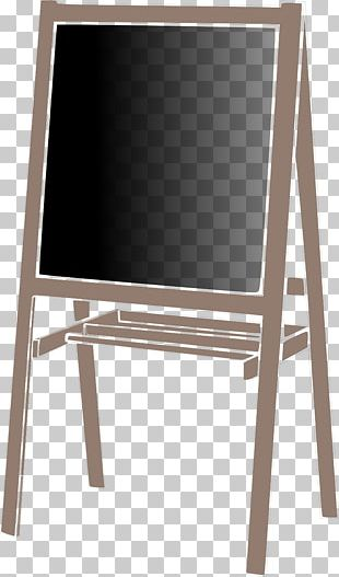 Blackboard Easel Art PNG