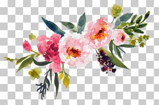 Watercolor Painting Flower Bouquet PNG