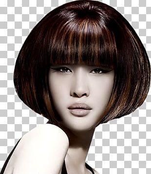 Layered Hair Bob Cut Hair Coloring Hairstyle Bangs PNG
