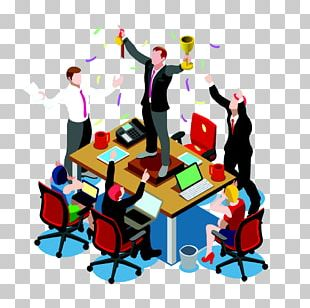 Isometric Projection Teamwork PNG