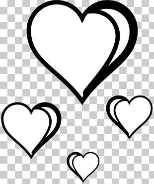Heart Valentines Day Black And White PNG