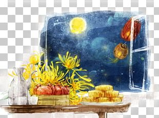 China Mooncake Mid-Autumn Festival Illustration PNG
