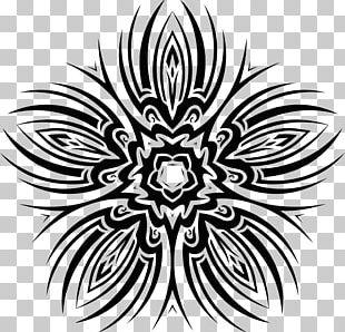 Floral Design Flower Monochrome PNG