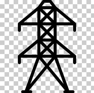 Transmission Tower Electric Power Transmission High Voltage Overhead Power Line PNG