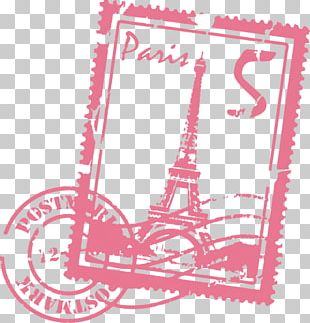 Eiffel Tower Paper Wall Decal Sticker Postage Stamps PNG