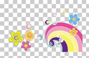 Material Rainbow Petals PNG