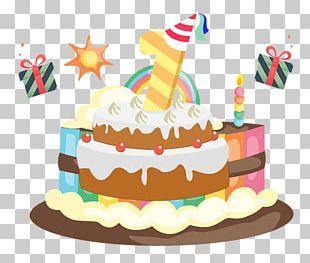 Birthday Cake Cupcake Ice Cream Cake PNG