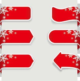 Christmas Ribbon Banner PNG