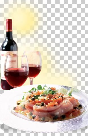 Red Wine European Cuisine Bacon Dish PNG