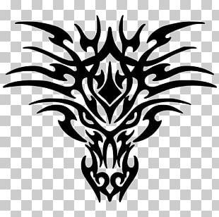 White Dragon Black And White Drawing PNG