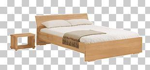 Bed Frame Mattress Bedroom Wood PNG