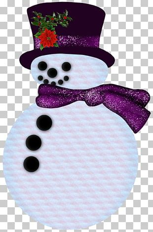 Snowman Purple Hat PNG