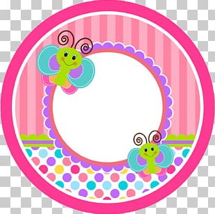 Butterfly Paper Sticker Label PNG