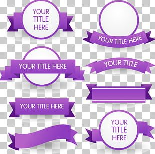 Purple Ribbon Euclidean PNG