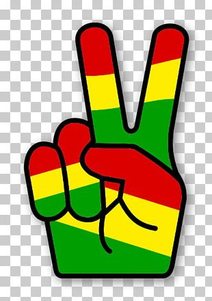 Rastafari Reggae V Sign Peace Symbols PNG