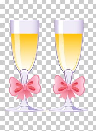 Champagne Wine Glass Wedding Cake PNG