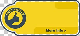 Yellow Thumb Label PNG