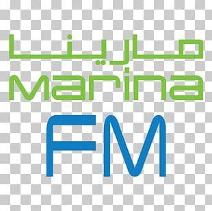 Marina FM Kuwait FM Broadcasting Logo Radio Station PNG