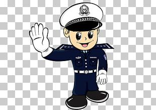 Police Officer Traffic Police Cartoon PNG