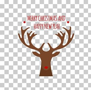 Rudolph Reindeer Santa Claus Moose PNG