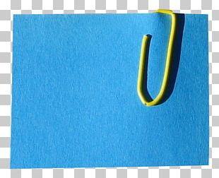 Post-it Note Paper Clip Letter Blue PNG