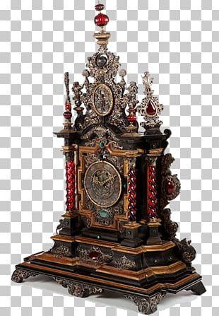 Germany France Mantel Clock Bronze PNG