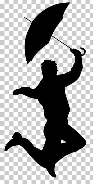 Singing In The Rain! Silhouette Main Title Animated Film PNG