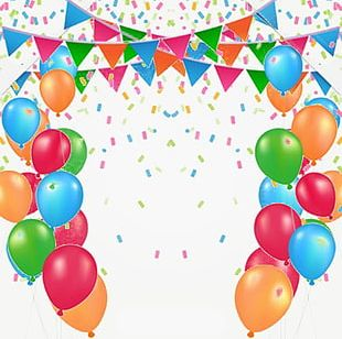 Balloon Decoration Celebration Background Material PNG