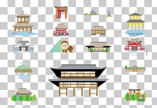 Japanese Architecture Building Illustration PNG