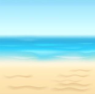Summer Beach Background PNG