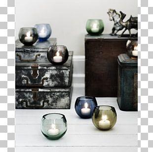 Holmegaard Tealight Candlestick Glass PNG