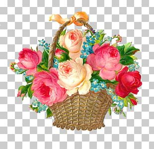 Basket Flower Pink PNG