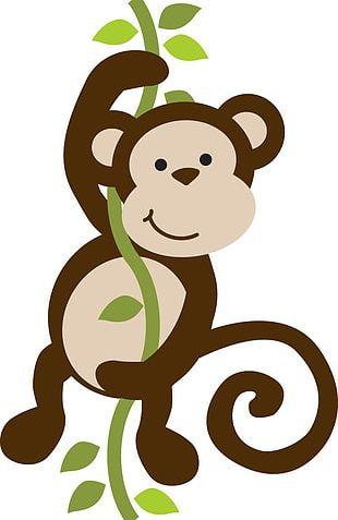 Baby Monkeys Safari PNG