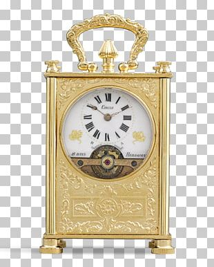 Carriage Clock Antique Mantel Clock Movement PNG