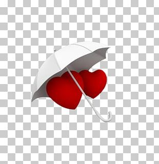 Heart Umbrella PNG