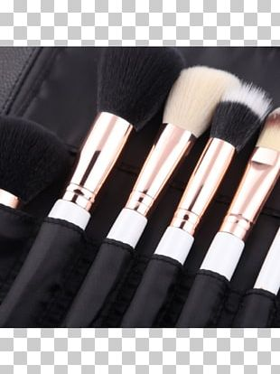 Makeup Brush Make-up Gold Børste PNG