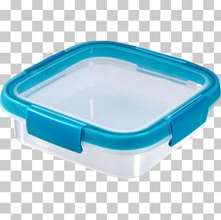 Plastic Food Box Container Blue PNG