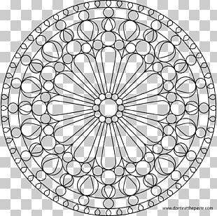 Rose Window Coloring Book Stained Glass Mandala PNG