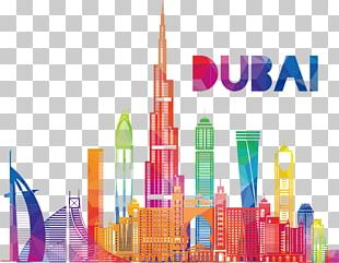 Burj Khalifa Skyscraper Illustration PNG