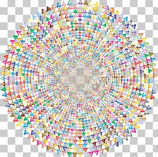 Symmetry Circle Line Pattern PNG