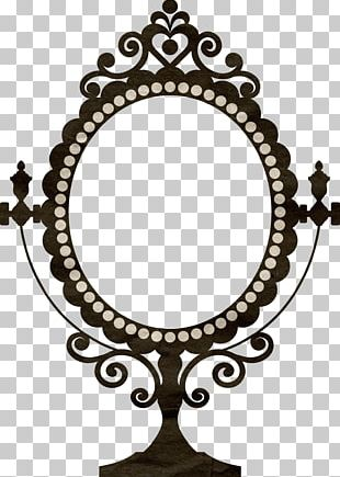 Wall Decal Vintage Clothing Mirror Frame Decorative Arts PNG