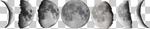 Lunar Phase New Moon Drawing Full Moon PNG