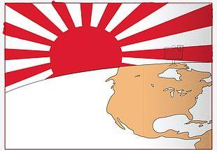 Empire Of Japan Rising Sun Flag Second World War Flag Of Japan PNG